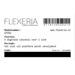 Flexeria 5 extra digitale sleutels voor 1 slot